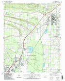 Download a high-resolution, GPS-compatible USGS topo map for Cabot, AR (1987 edition)