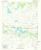 Download a high-resolution, GPS-compatible USGS topo map for Pocket Prairie, AR (1982 edition)