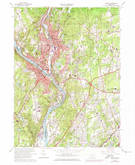 Download a high-resolution, GPS-compatible USGS topo map for Ansonia, CT (1974 edition)