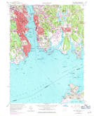 Download a high-resolution, GPS-compatible USGS topo map for New London, CT (1971 edition)