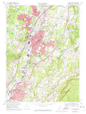Download a high-resolution, GPS-compatible USGS topo map for Wallingford, CT (1974 edition)