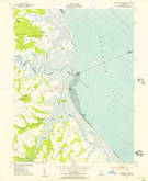 Download a high-resolution, GPS-compatible USGS topo map for Mispillion River, DE (1956 edition)