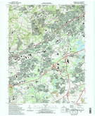 Download a high-resolution, GPS-compatible USGS topo map for Newark East, DE (1993 edition)