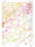 Download a high-resolution, GPS-compatible USGS topo map for Newark East, DE (1971 edition)