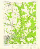 Download a high-resolution, GPS-compatible USGS topo map for Seaford East, DE (1957 edition)