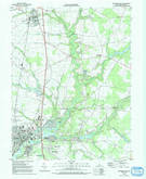 Download a high-resolution, GPS-compatible USGS topo map for Seaford East, DE (1992 edition)