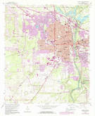 Download a high-resolution, GPS-compatible USGS topo map for Albany West, GA (1988 edition)