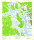 Download a high-resolution, GPS-compatible USGS topo map for Brunswick West, GA (1960 edition)