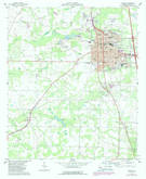 Download a high-resolution, GPS-compatible USGS topo map for Cordele, GA (1988 edition)