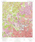 Download a high-resolution, GPS-compatible USGS topo map for Northwest Atlanta, GA (1974 edition)