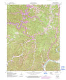 Download a high-resolution, GPS-compatible USGS topo map for Adams, KY (1993 edition)