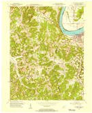 Download a high-resolution, GPS-compatible USGS topo map for Cloverport, KY (1955 edition)