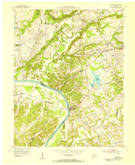 Download a high-resolution, GPS-compatible USGS topo map for Dycusburg, KY (1955 edition)