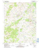 Download a high-resolution, GPS-compatible USGS topo map for Flaherty, KY (1992 edition)