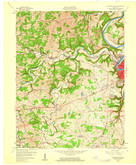 Download a high-resolution, GPS-compatible USGS topo map for Frankfort West, KY (1960 edition)