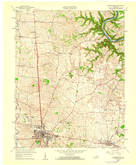 Download a high-resolution, GPS-compatible USGS topo map for Harrodsburg, KY (1960 edition)