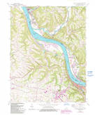 Download a high-resolution, GPS-compatible USGS topo map for Maysville West, KY (1993 edition)