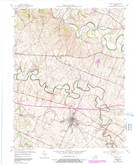 Download a high-resolution, GPS-compatible USGS topo map for Midway, KY (1991 edition)