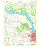 Download a high-resolution, GPS-compatible USGS topo map for Owensboro West, KY (1970 edition)