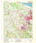 Download a high-resolution, GPS-compatible USGS topo map for Paducah West, KY (1969 edition)