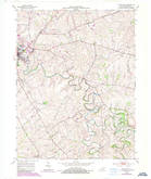 Download a high-resolution, GPS-compatible USGS topo map for Paris East, KY (1987 edition)