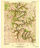 Download a high-resolution, GPS-compatible USGS topo map for Salvisa, KY (1953 edition)