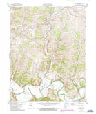 Download a high-resolution, GPS-compatible USGS topo map for Waterford, KY (1987 edition)