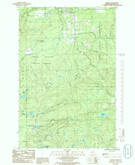 Download a high-resolution, GPS-compatible USGS topo map for Alberta, MI (1986 edition)