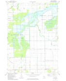 Download a high-resolution, GPS-compatible USGS topo map for Alicia, MI (1978 edition)