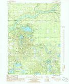 Download a high-resolution, GPS-compatible USGS topo map for Big Blue Lake, MI (1985 edition)