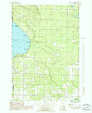 Download a high-resolution, GPS-compatible USGS topo map for Black Lake Bluffs, MI (1986 edition)