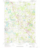 Download a high-resolution, GPS-compatible USGS topo map for Davisburg, MI (1974 edition)