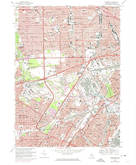 Download a high-resolution, GPS-compatible USGS topo map for Dearborn, MI (1974 edition)