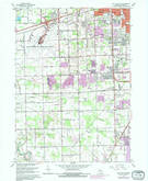 Download a high-resolution, GPS-compatible USGS topo map for Flat Rock, MI (1981 edition)