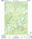 Download a high-resolution, GPS-compatible USGS topo map for Hagerman Lake, MI (2004 edition)