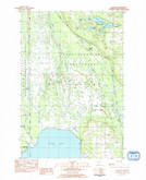 Download a high-resolution, GPS-compatible USGS topo map for Hiawatha, MI (1984 edition)
