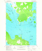 Download a high-resolution, GPS-compatible USGS topo map for Lime Island, MI (1966 edition)