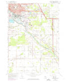Download a high-resolution, GPS-compatible USGS topo map for Midland South, MI (1974 edition)