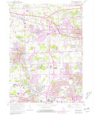 Download a high-resolution, GPS-compatible USGS topo map for Northville, MI (1981 edition)