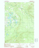 Download a high-resolution, GPS-compatible USGS topo map for Peacock, MI (1988 edition)