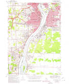 Download a high-resolution, GPS-compatible USGS topo map for Port Huron, MI (1974 edition)