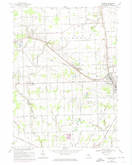 Download a high-resolution, GPS-compatible USGS topo map for Richmond, MI (1974 edition)
