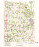 Download a high-resolution, GPS-compatible USGS topo map for Rochester, MI (1971 edition)