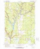 Download a high-resolution, GPS-compatible USGS topo map for Secord Lake, MI (1972 edition)