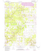Download a high-resolution, GPS-compatible USGS topo map for Sullivan, MI (1982 edition)
