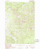 Download a high-resolution, GPS-compatible USGS topo map for Big Horn Peak, MT (1986 edition)