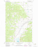 Download a high-resolution, GPS-compatible USGS topo map for Blue Grass Ridge, MT (1983 edition)
