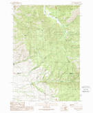 Download a high-resolution, GPS-compatible USGS topo map for Davis Point, MT (1989 edition)