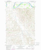 Download a high-resolution, GPS-compatible USGS topo map for Dugout Creek, MT (1989 edition)