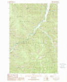 Download a high-resolution, GPS-compatible USGS topo map for Grizzly Point, MT (1989 edition)